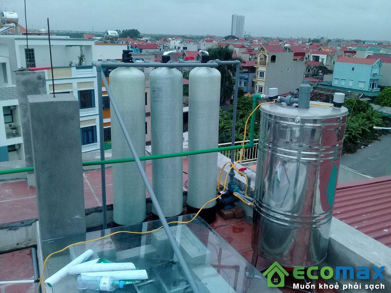 Thiết bị lọc nước giếng khoan xử lý sắt, asen, mangan, canxi