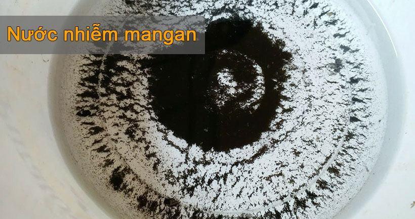 Nước nhiễm mangan